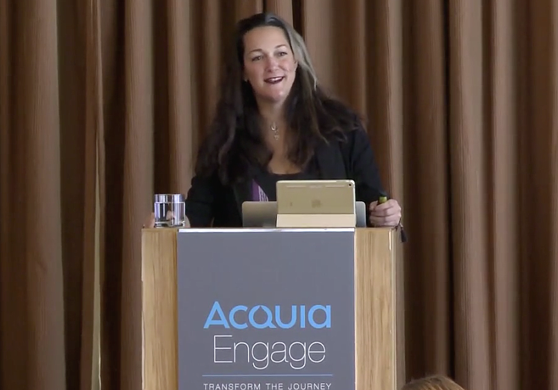Acquia's Melanie Poitras at 2017 Engage