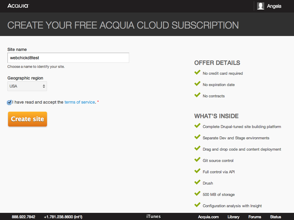 Installing Drupal 8 on Acquia Cloud