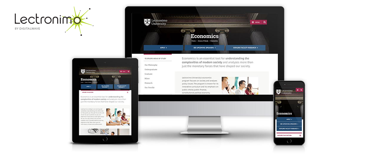Lectronimo displayed on mobile, tablet, and desktop devices.