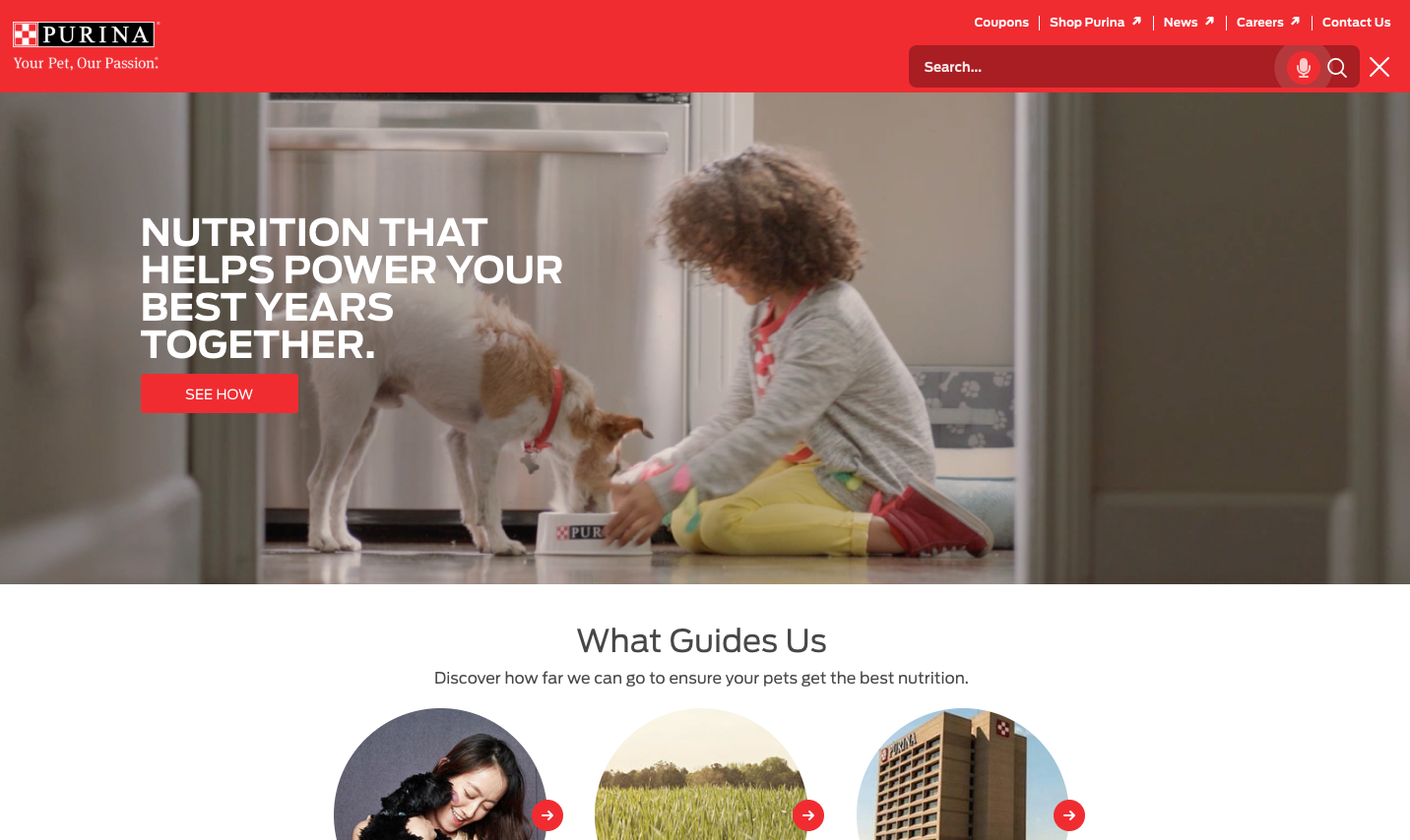 A new way to navigate Purina.com