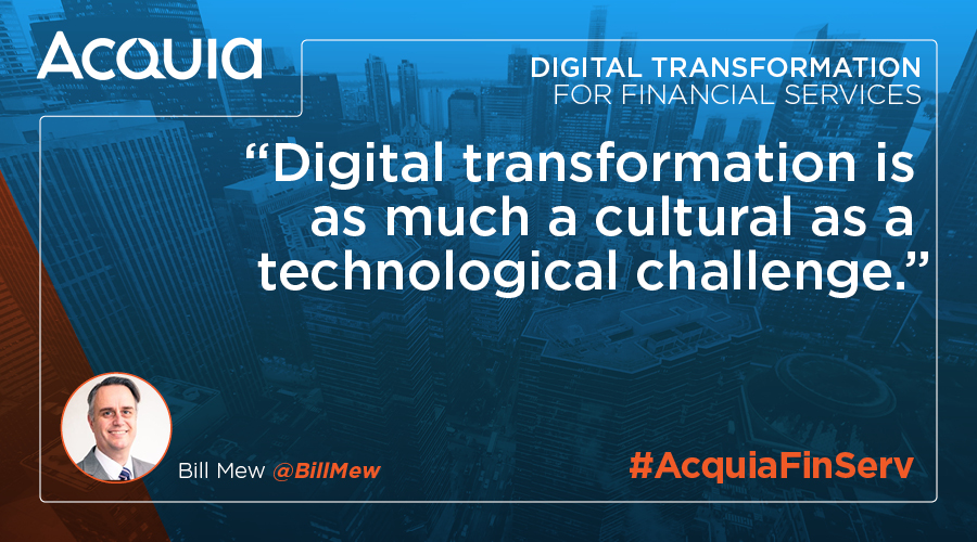 Bill Mew on the digital transformation of financial services