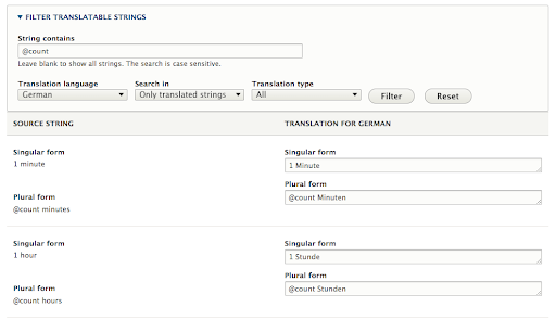 Interface translation in Drupal