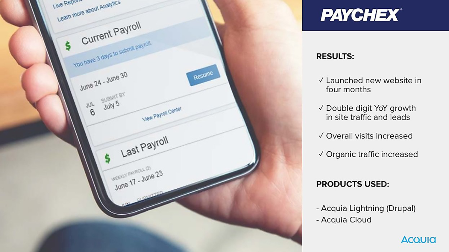 How Paychex replatformed on Drupal and doubled its website traffic