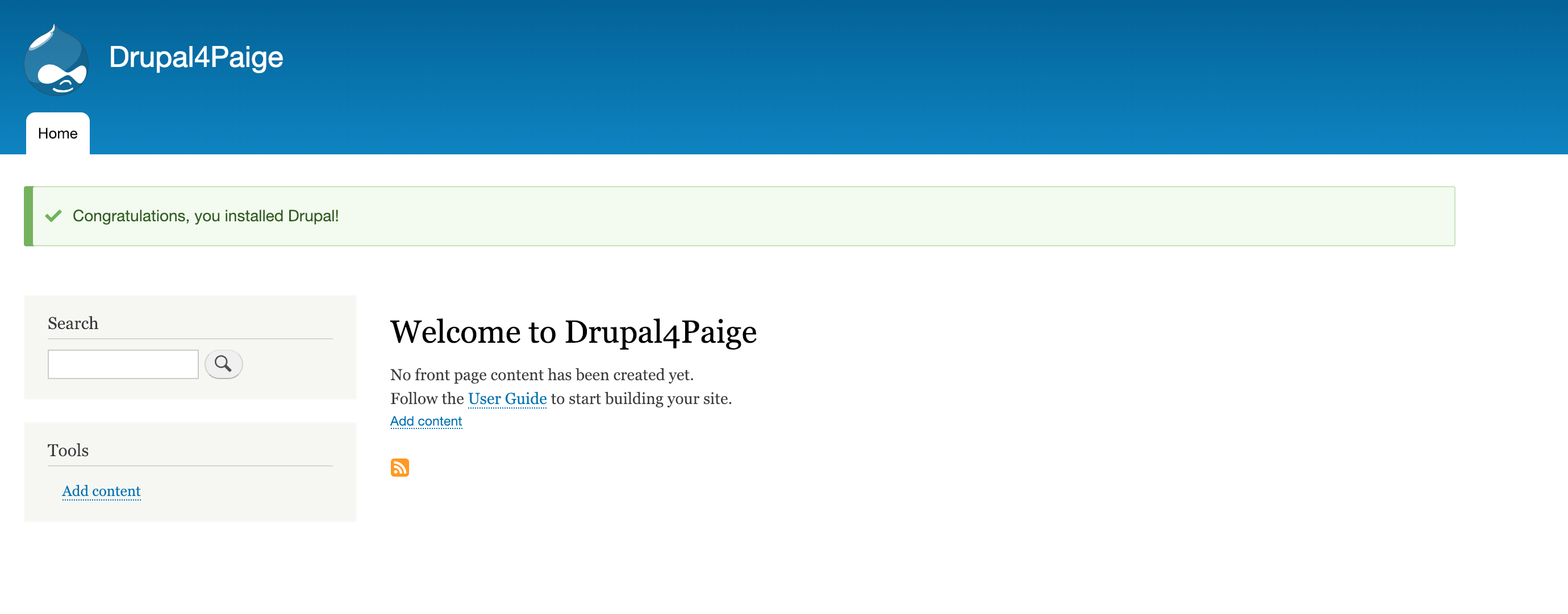 Drupal Homepage Screenshot