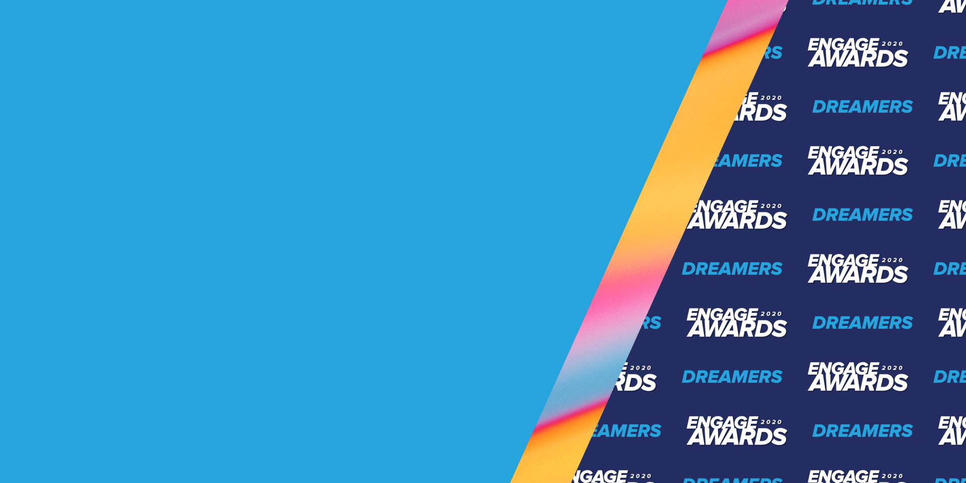 Acquia Engage Awards 2020 Dreamers Banner