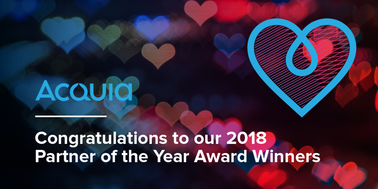 Acquia Congratulations to our 2018 Partner of the Year Award Winners