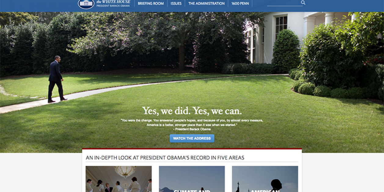Obama Presidential Library / National Archives Site Establishes The Digital Record