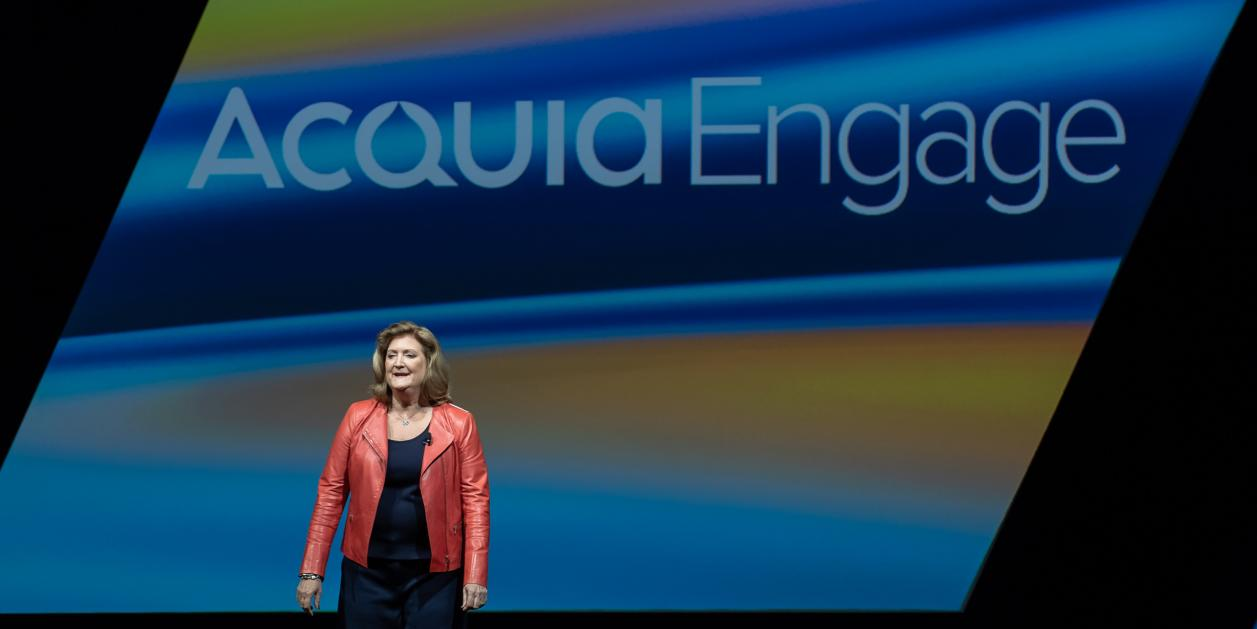 Acquia Chief Marketing Officer Lynne Capozzi at Acquia Engage 2018