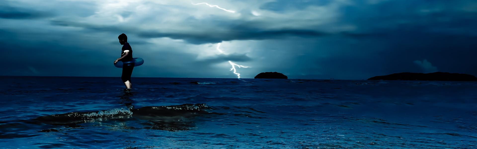 a storm on the ocean