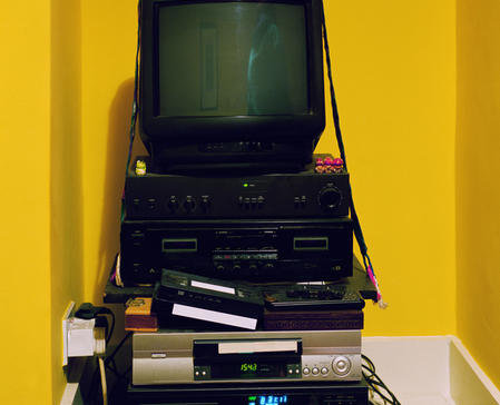 Tv on VHS player