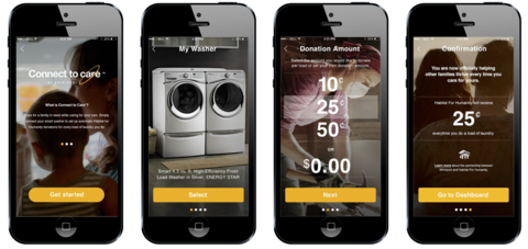 whirlpool care app screen