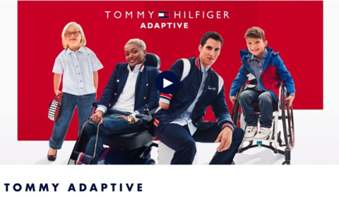 Tommy Adaptive campaign poster featuring four children