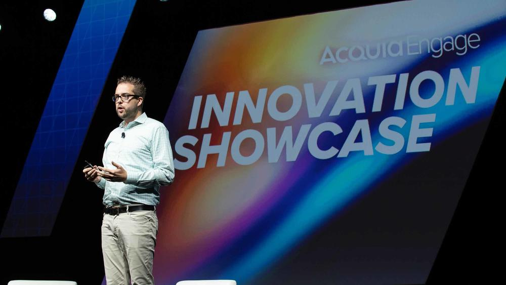 Dries Buytaert Acquia Engage Stage