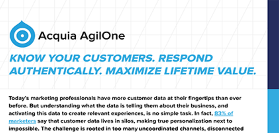 Acquia AgilOne Datasheet Screenshot