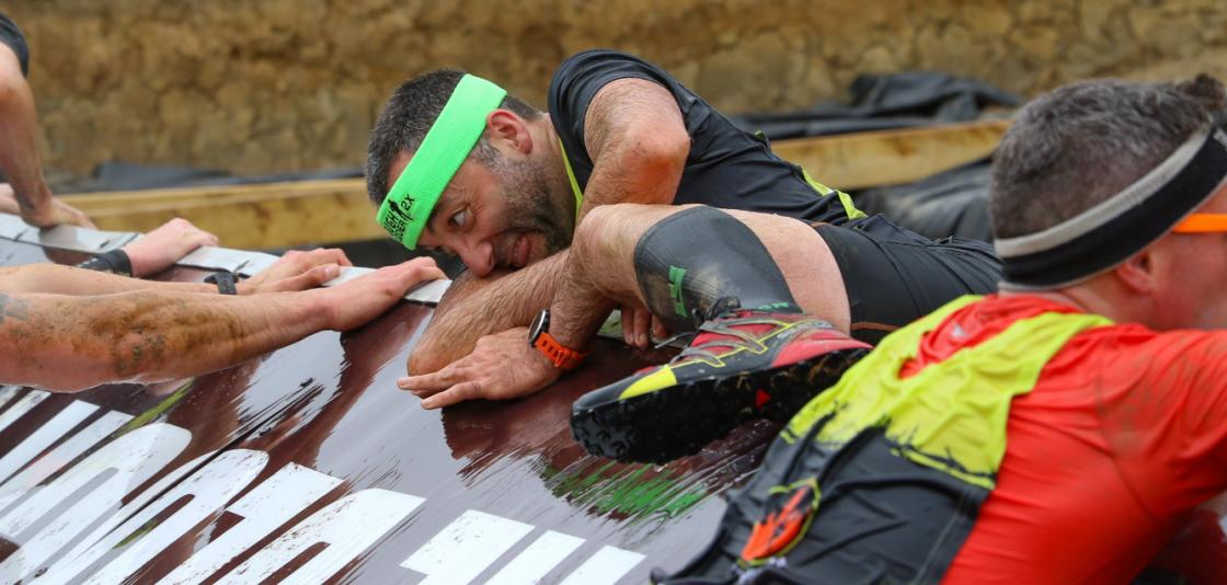 Silverio competing in a Tough Mudder