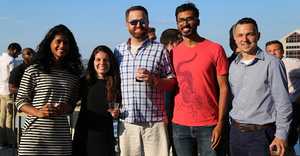 acquia employees at summer party
