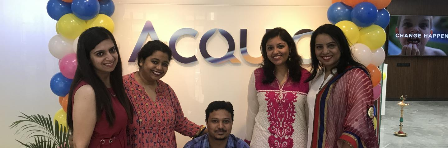 Acquia employees opening Pune office