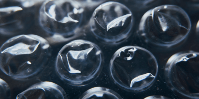 Closeup of bubble wrap