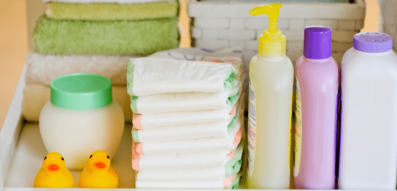 Baby bath and body products