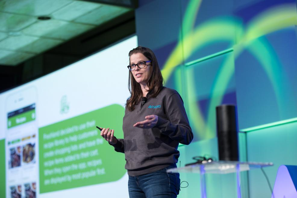 Katherine Bailey, principal data scientist at Acquia, talks about machine learning at Acquia's 2017 Engage conference in Boston.