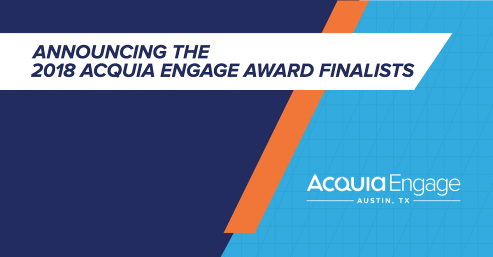 2018 Engage Award Finalists