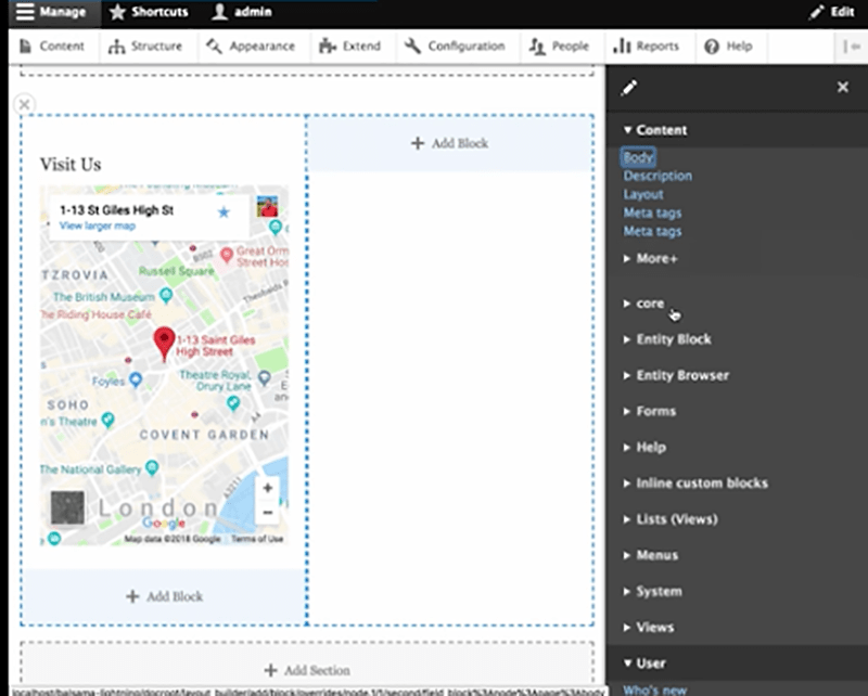 Out-of-the-box support for media, maps & slideshows