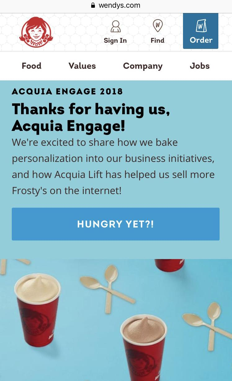 Wendy's Acquia Engage 2018