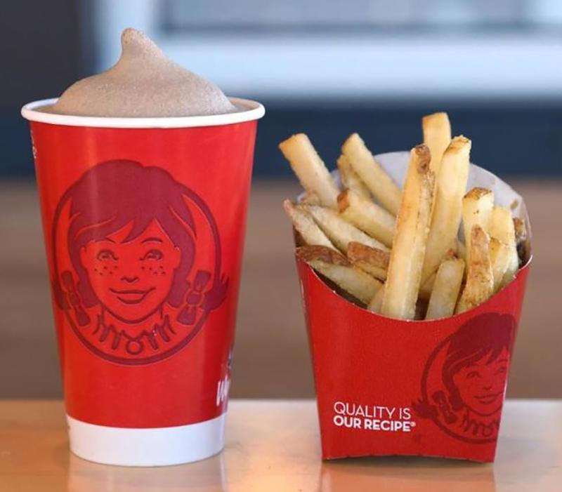 Wendy's fries and Frosties