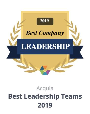 Comparably Acquia Leadership Award