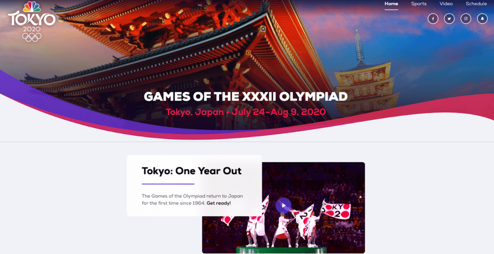 nbc 2020 olympics website