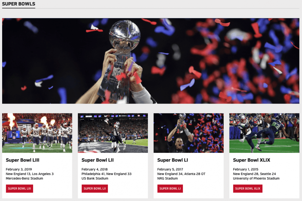patriots superbowl online video