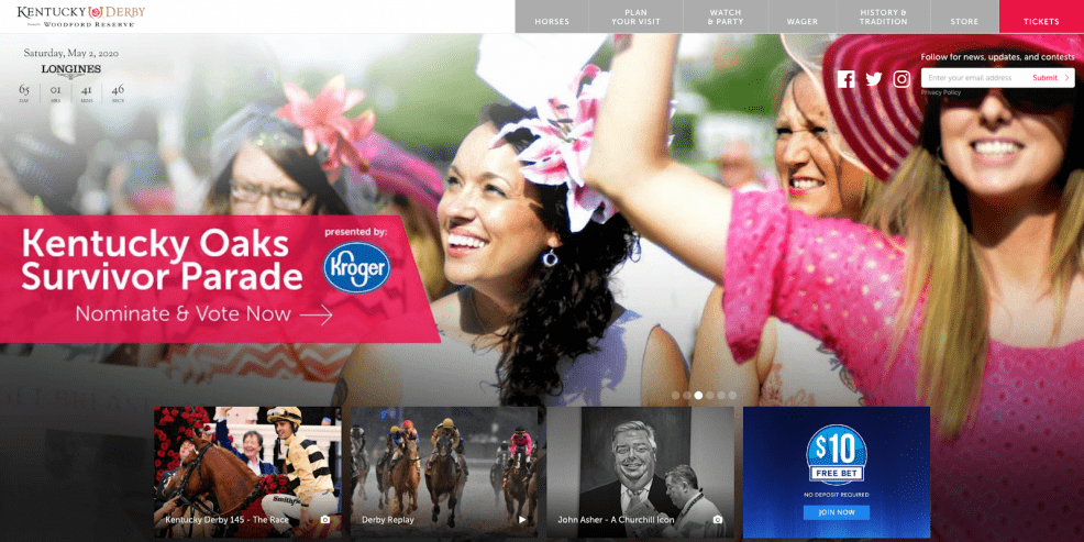 kentucky derby drupal website